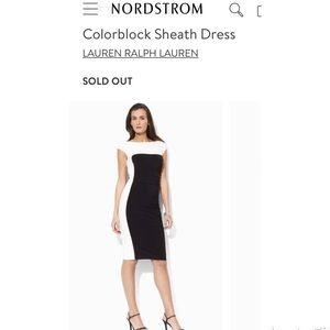 NWT Ralph Lauren color block sheath dress