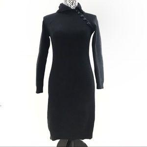 RALPH LAUREN black mock neck sweater dress XS