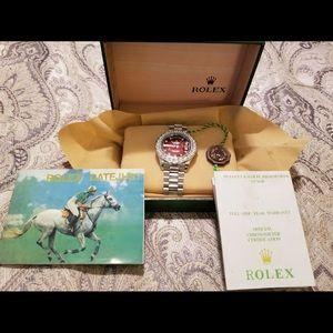 Rolex DayDate 10k WG & Stainless steel.