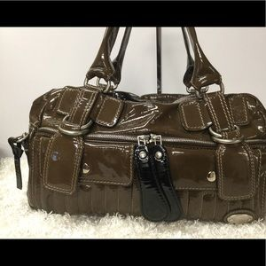 Chloe Logos Patent Leather Satchel