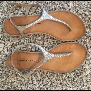 Chinese Laundry rhinestone sandals