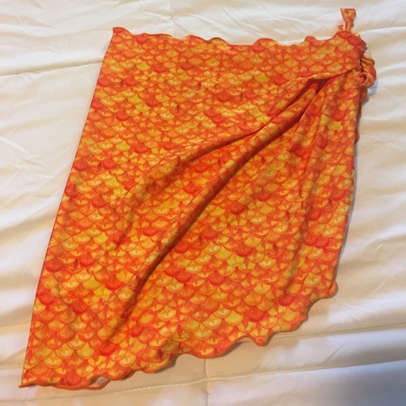 63fcdf37da fin fun mermaid Swim | Orange Mermaid Sarong Suit Cover Up | Poshmark