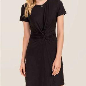 NWT! Francesca's collection REYA black knit dress