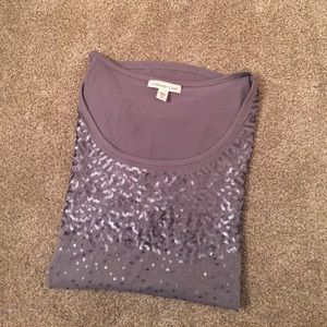 Women's Coldwater Creek Sparkle Top - Gray XL 18