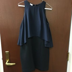 *Never Worn* Ali Ro navy and black scuba dress