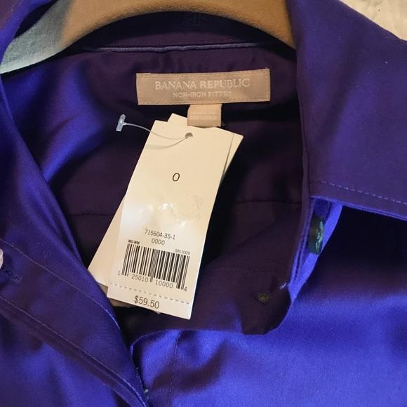 Banana Republic Tops - NWT Banana Republic non-iron fitted shirt Size 0