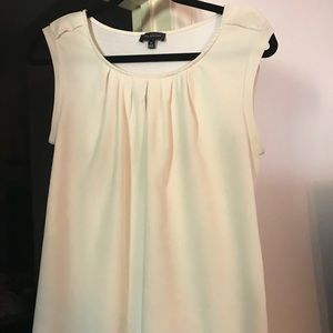 White cream shell blouse