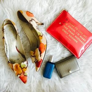 Anthropologie Bettye Muller Floral Heels