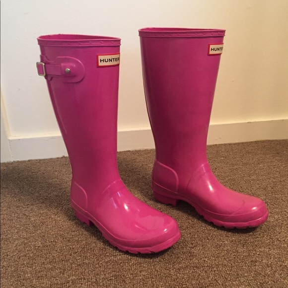 Hunter Boots Shoes - Pink Hunter Boots Women s size 6 0ac7dd0a2e