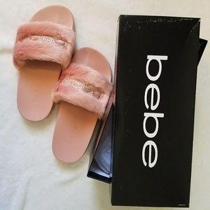 New BeBe Nude Pink Slide Sandals