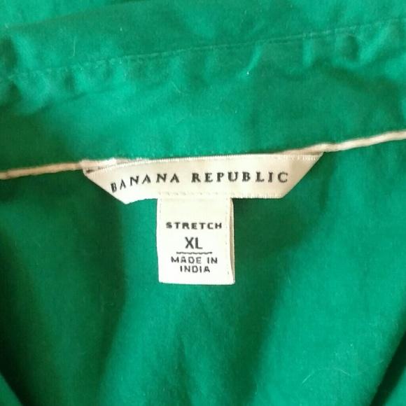 Banana Republic Tops - Beautiful Green Banana Republic Button Down Shirt