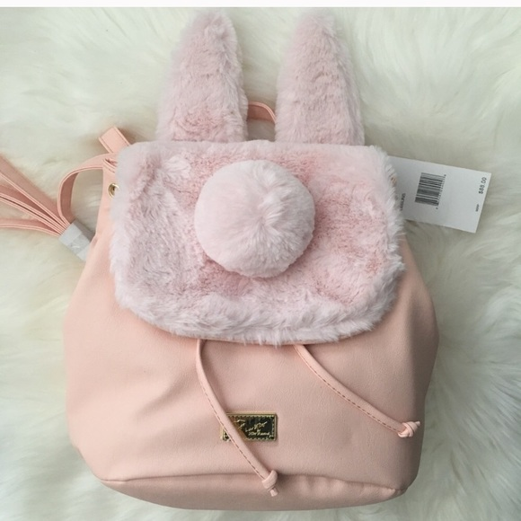 2b37f88e1c23 Betsey Johnson blush pink bunny ears backpack