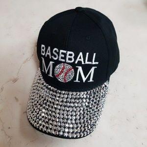 Accessories - ***NEW***Baseball MOM Rhinestone Cap***