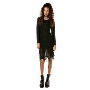 UNIF Loose Strings Sweater Mini Dress