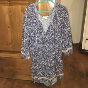 Half sleeve patterned romper!