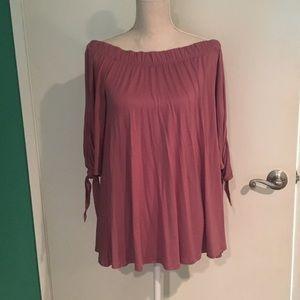 🔴Off the shoulder dark pink dress size S