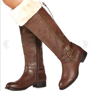 NEW knee boot 7.5 wide calf