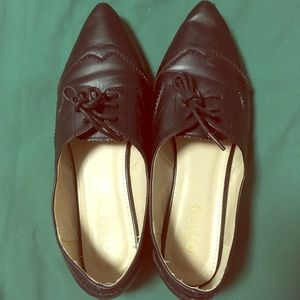 Ollio black dressy pointed flats