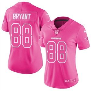 NWT DALLAS COWBOYS DEZ BRYANT #88 PINK JERSEY