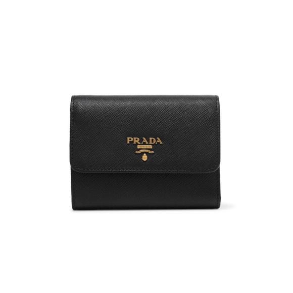 271de96463 Prada Saffiano leather trifold small wallet