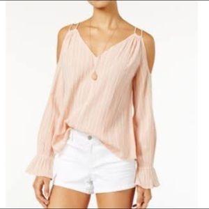 Jessica Simpson pale coral cutout shirt Nwt