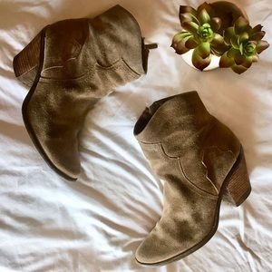 BCBG Suede Ankle Booties!
