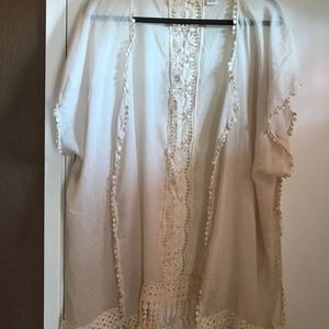 Jackets & Blazers - One Size fringe kimono.