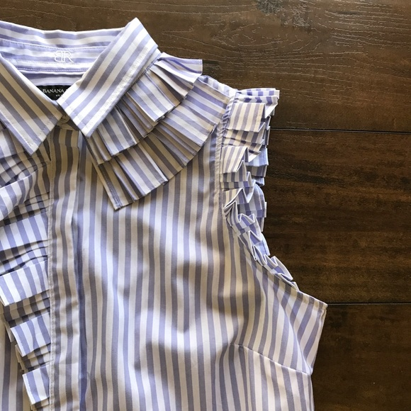 Banana Republic Tops - Banana Republic Riley Stripe Ruffled Shirt
