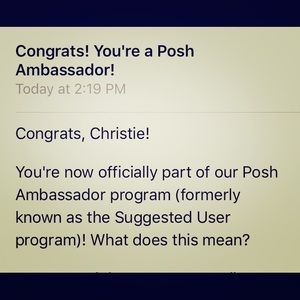 Other - 🎉🎊 IM A POSH AMBASSADOR 🎊🎉