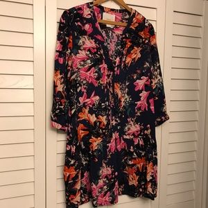 Anthropologie Floral Drop-waist Dress