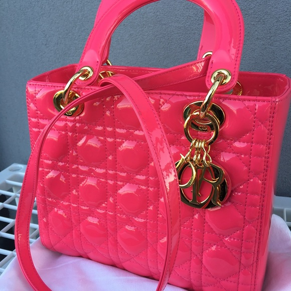 5779496d81 Christian Dior Bags | Lady Dior Handbag Hot Pink Medium | Poshmark
