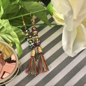 Jewelry - ✨New! Iridescent Tassel Earrings (Rainbow Edition)