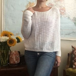 ⭐️ 3 for $15 White Loose Knit Crop Sweater