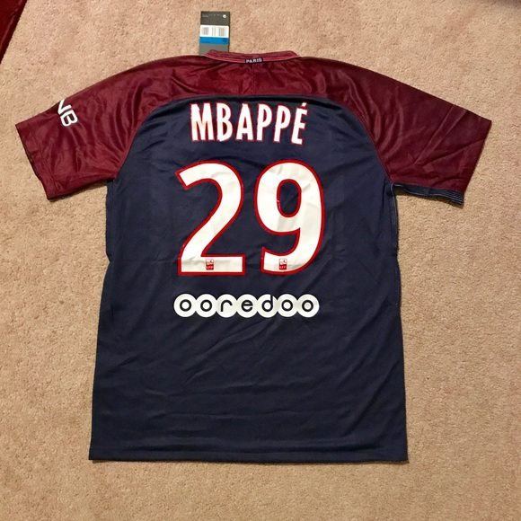 068a32f4ce8 Mbappe  29 PSG soccer jersey