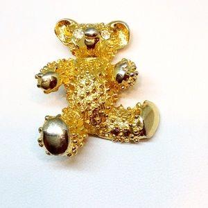 AAI Signature Teddy Bear Brooch Pin