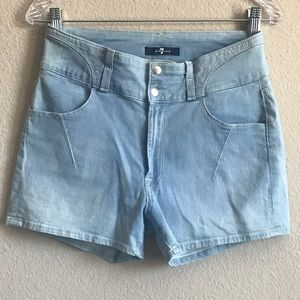 7 for all Mankind high waisted denim shorts
