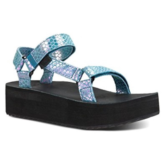 24ddf4bdaf8 Teva Shoes - Teva Flatform Universal Iridescent Sandal NWOB