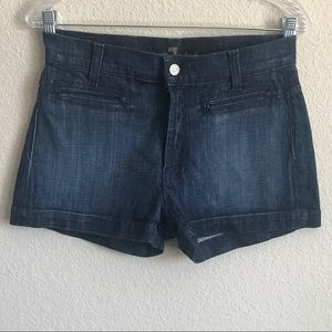 7 for all Mankind mid waist denim shorts