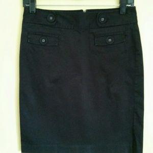 Gap black knee length skirt