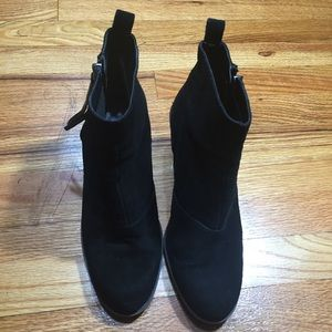Dolce Vita Tassel Ankle Boots Black Sz 9