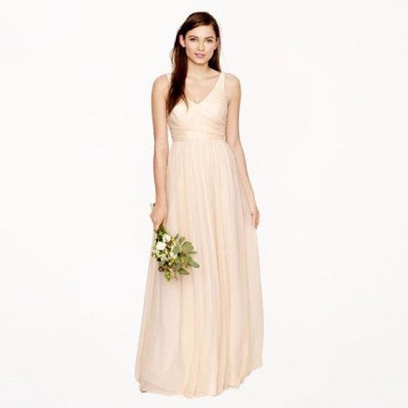 J. Crew Dresses | J Crew Heidi Gown In Champagne | Poshmark