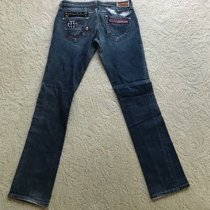 Robins jeans patch work denim