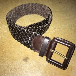 NWT Banana Republic Brown Woven Leather Belt Small