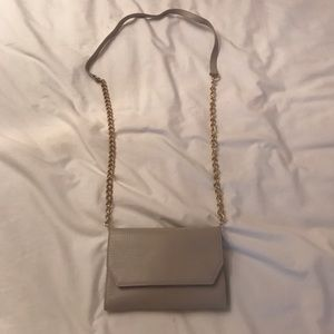 Grey Tan Crossbody Bag