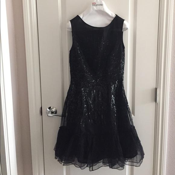 RED Valentino Dresses | Black Sequined Dress | Poshmark