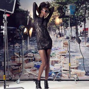 Twelve x Twelve/Forever 21 Black & Nude Lace Dress