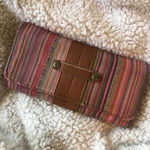 Roxy tribal stripe wallet