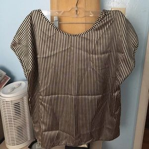 American Apparel Shiny Striped Blouse