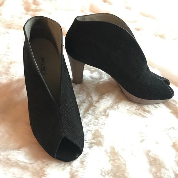 Paul Green Black Veronia Peep Toe Heel