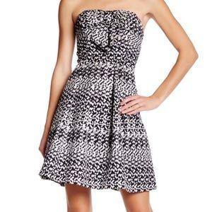 EVA FRANCO Black Silver Bow COCKTAIL Dress sz 12